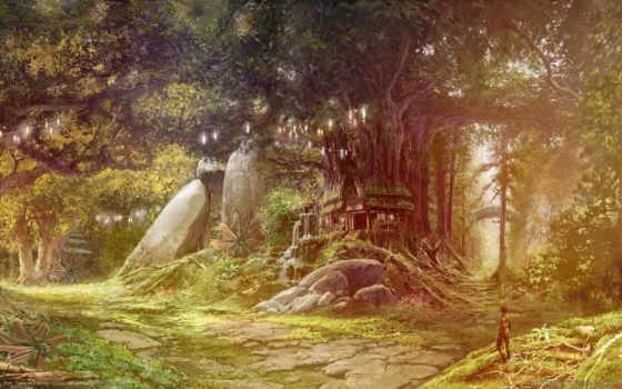 house, лес, лесу, lodge, aion,