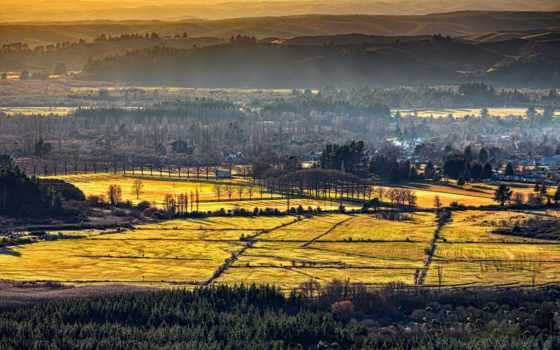 природа, margin, холмы, landscape, разделе, домики, toscana,