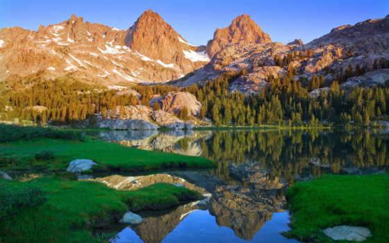 природа, горы, landscape, озеро, природы, качестве, картинок, разделе, красавица,