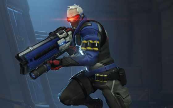 overwatch, солдат, игры, blizzard, ultra, tracer, other, patrol,