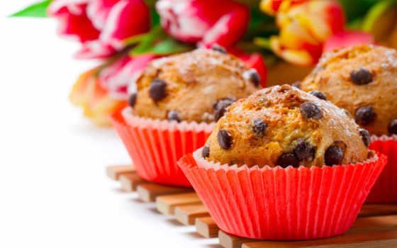 тюльпан, korobok, букет, весны, сладость, wooden, cookie, tape