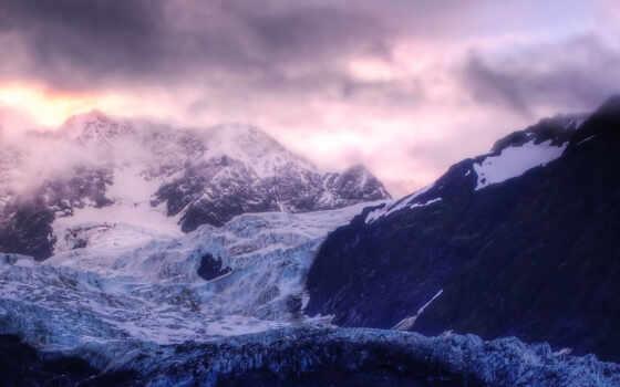 горы, ледник Фон № 49503 разрешение 2560x1024