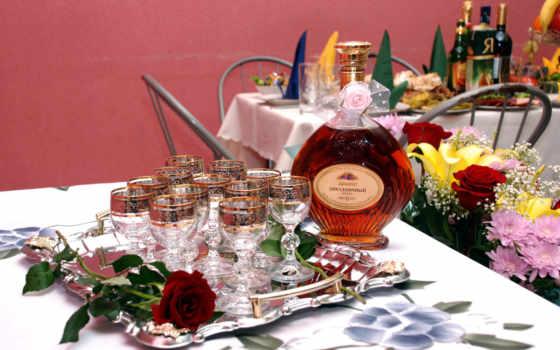 цветы, натюрморты, вином