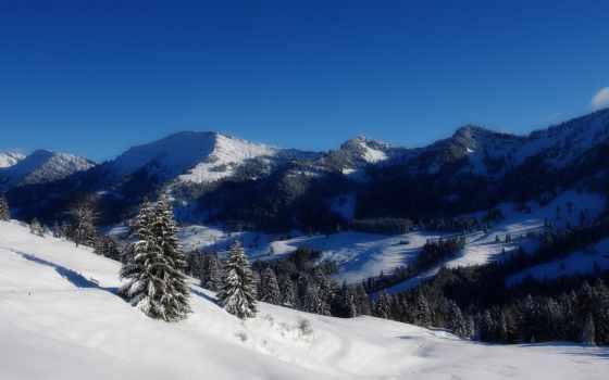 winter, гора, landscape, зимние, яхта,
