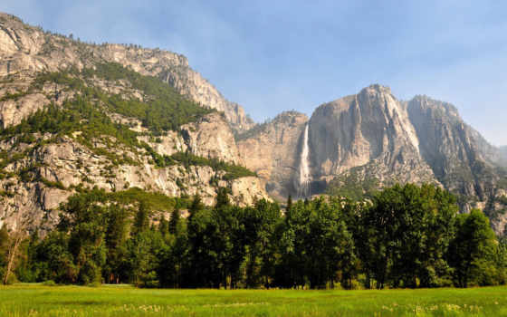 yosemite, national, park, falls, лес, summer, zhangjiajie, waterfalls,