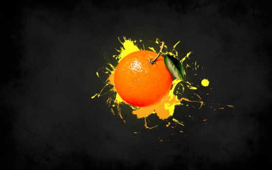 оранжевый, графика, картинка, краска, amber, фрукты, полоса, картинку, апельсины,
