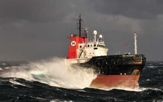 корабль, море, vehicle, судно, волны