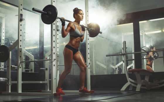 девушка, боб, исправлять, crouch, tehnika, упражнение, rod, buttock, leg, accomplishment
