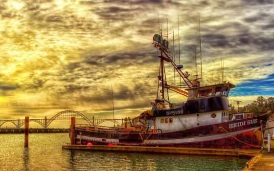 рыбалка, лодка, boats, desktop,