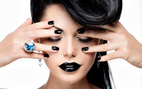 свет, волосы, закрытые, руки, макияж, hairstyle, модель, ринг, губы, ногти, покрасили,