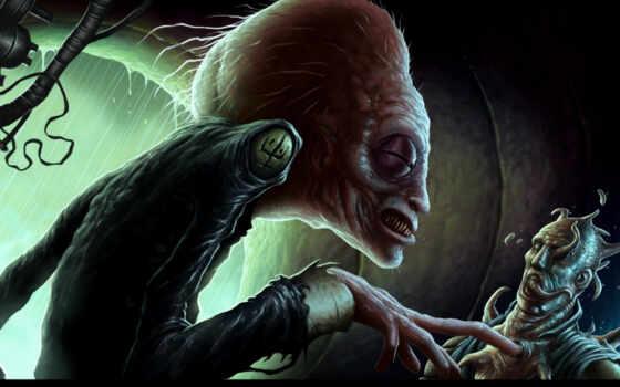 пришелец, инопланетянен, жертва, голова, корабль, щупальца, человек, картинка, горизонтали, имеет, вертикали, cr, бесплатные, ученый, будущего, людей, mac,