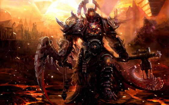 воин, warhammer, фэнтези