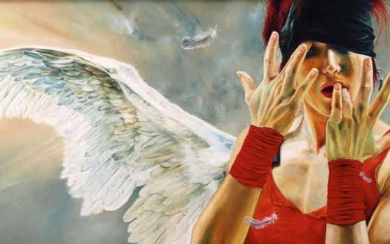 kuklinski, wlodzimierz, девушка, крылья, angel, перья,
