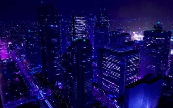 города, ночь, город, ночные, cityscapes, огни,