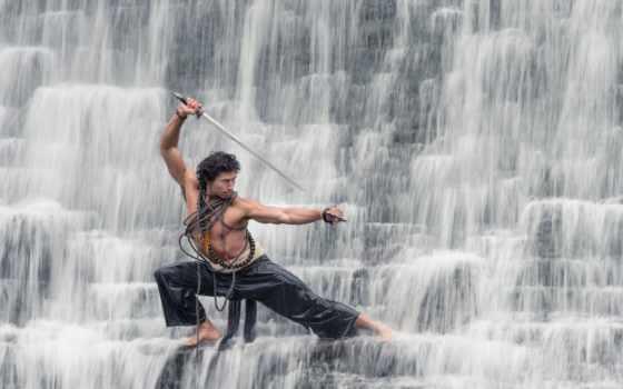 самурай, мужчины, парень, waters, катана, фоны, benjamin,