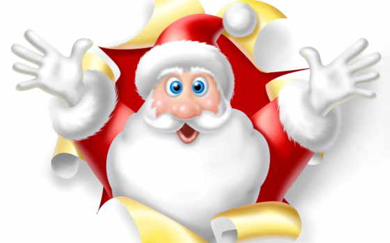new, год, white, christmas, иней, дед, кнопкой, правой, отдых, санта, вектор,