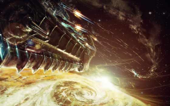 bulletstorm, art, game, cosmos, shot, битва, космос, корабль
