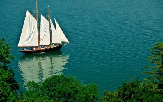 яхта, парусник, море