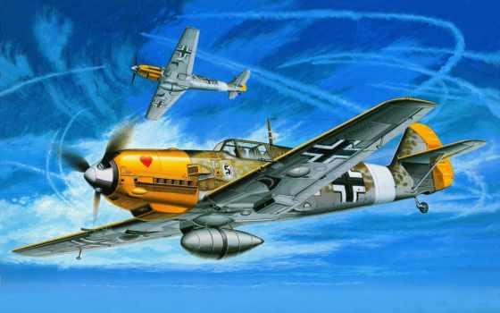 рисованные, самолеты, авиация