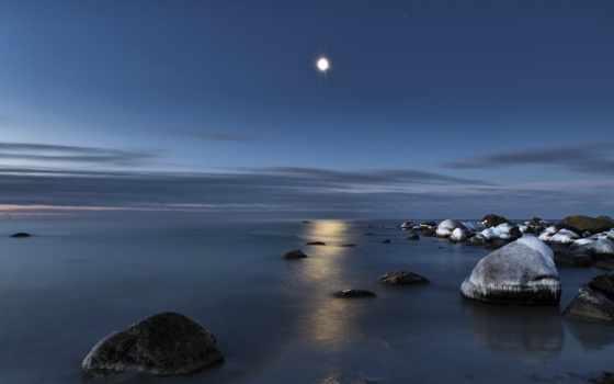 романтика, свет, луна