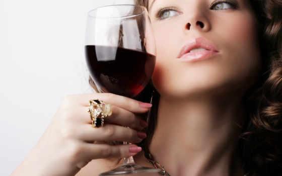 бокал, вино