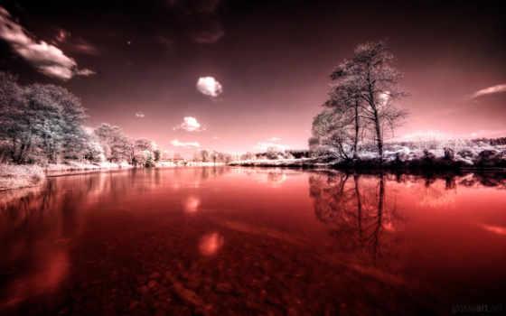 река, кровь, кровавая, reki, небо, крови, water, трава,