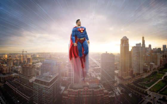 superman, город, взгляд
