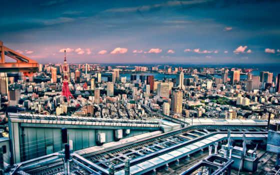 tokio, japanese, токийская, turret, японии, город,