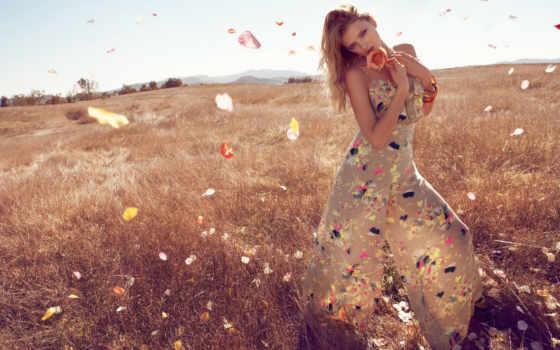 поле, девушка, фотосессии, идеи, lily, фотосессия, платье, улице,