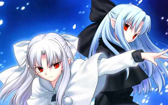 ren, tsukihime, shingetsutan, melty, кровь, white, gothic, anime, pinterest, twins,