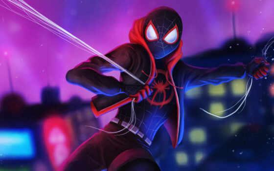 паук, мужчина, лицо, spiderman