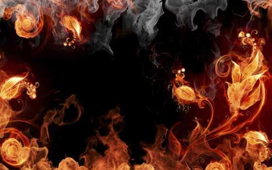 цветы, fire
