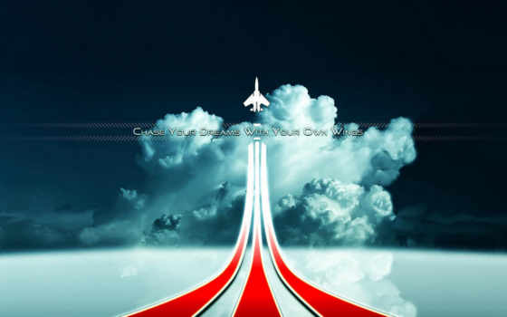 небо, самолёт