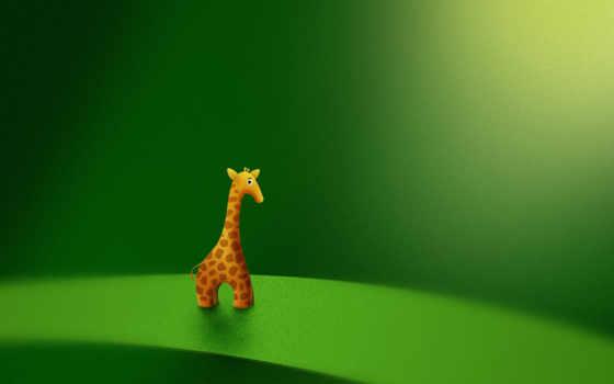 жираф, зелёный Фон № 18125 разрешение 2560x1600