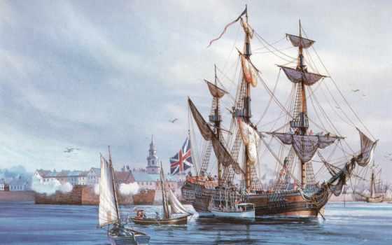 корабли, акватория, порт, море, sailboat, парусники, корабль, art, аборигены, паруса,