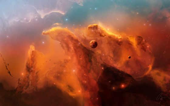 туманность, планета Фон № 17453 разрешение 2560x1600