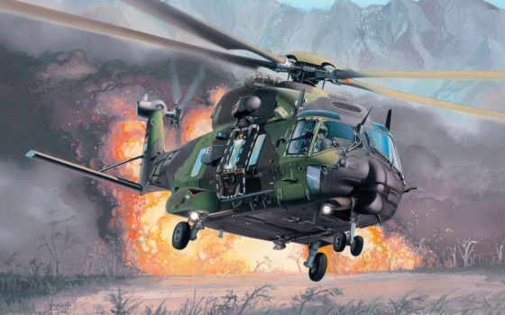 вертолет, многоцелевой, авиация, красивая, огонь, картинка, ми, бомбежка,