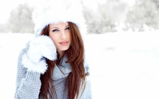winter, devushki, зимой