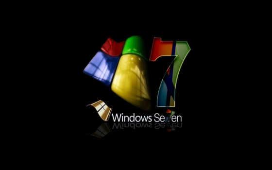 windows se7en на чёрном фоне
