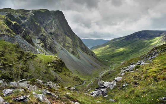 дорога, горы, вершины, гора, небо, landscape, природа,