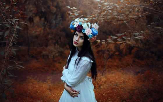 настроения, платье, девушка, жанр, настроение, осень, trees, закат,