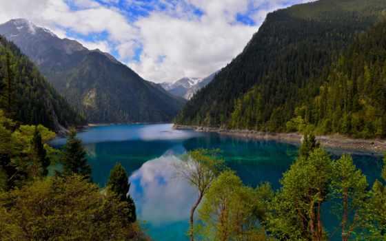 , природа, mural, china, living, озеро,