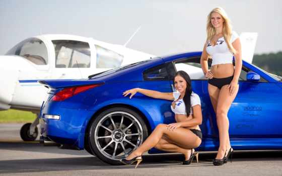 girls, devushki, cars