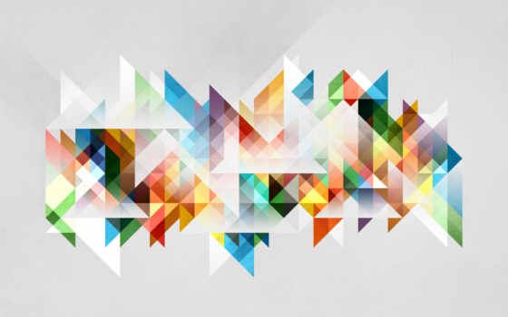 абстракция из разноцветных треугольников