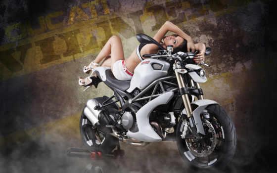 фотографий, devushki, мотоциклах