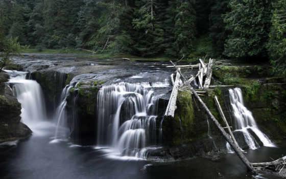 река, lewis, sounds, falls, природа, водопад, музыка, art, washington, relaxing,
