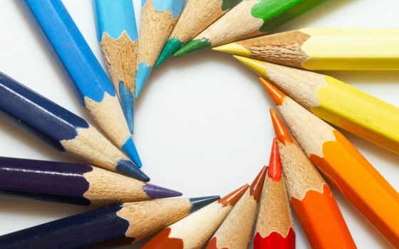 карандаши, цветные, color, разное, circle, карандашей,