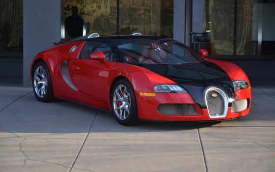 bugatti, veyron, coupe, спорт, black, red,