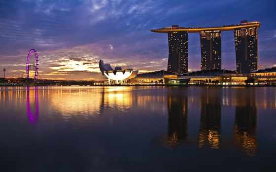 singapore, марина, bay Фон № 68091 разрешение 1680x1050