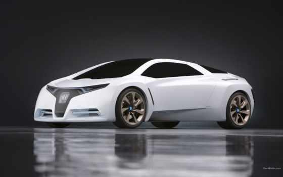 машина, белая, honda, фара, красивые, авто, дек, тюнинг,